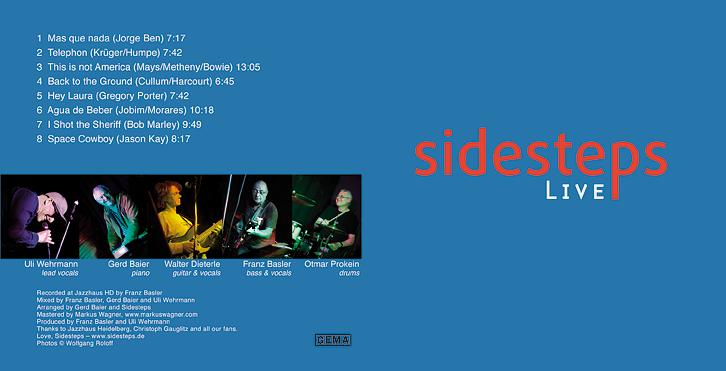 Sidesteps LIVE jetzt auch auf CD