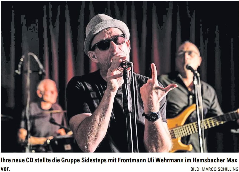 Sidesteps Sänger Uli Wehrmann im Max